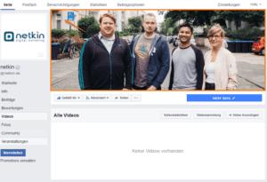 Video als Titelbild bei Facebook
