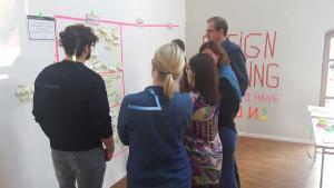 Workshop-Teilnehmer werten Ergebnisse aus